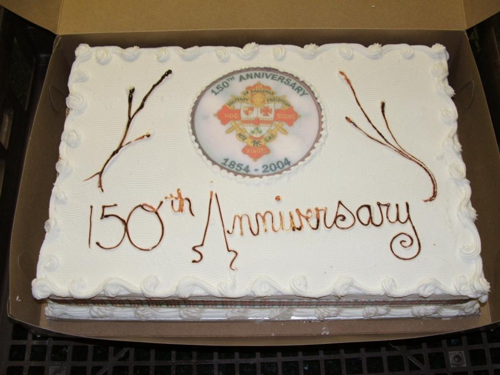 Sesquicentennial Birthday Cake - celebrating 150 Years old for Geoffrey de St. Aldemar Preceptory No. 2